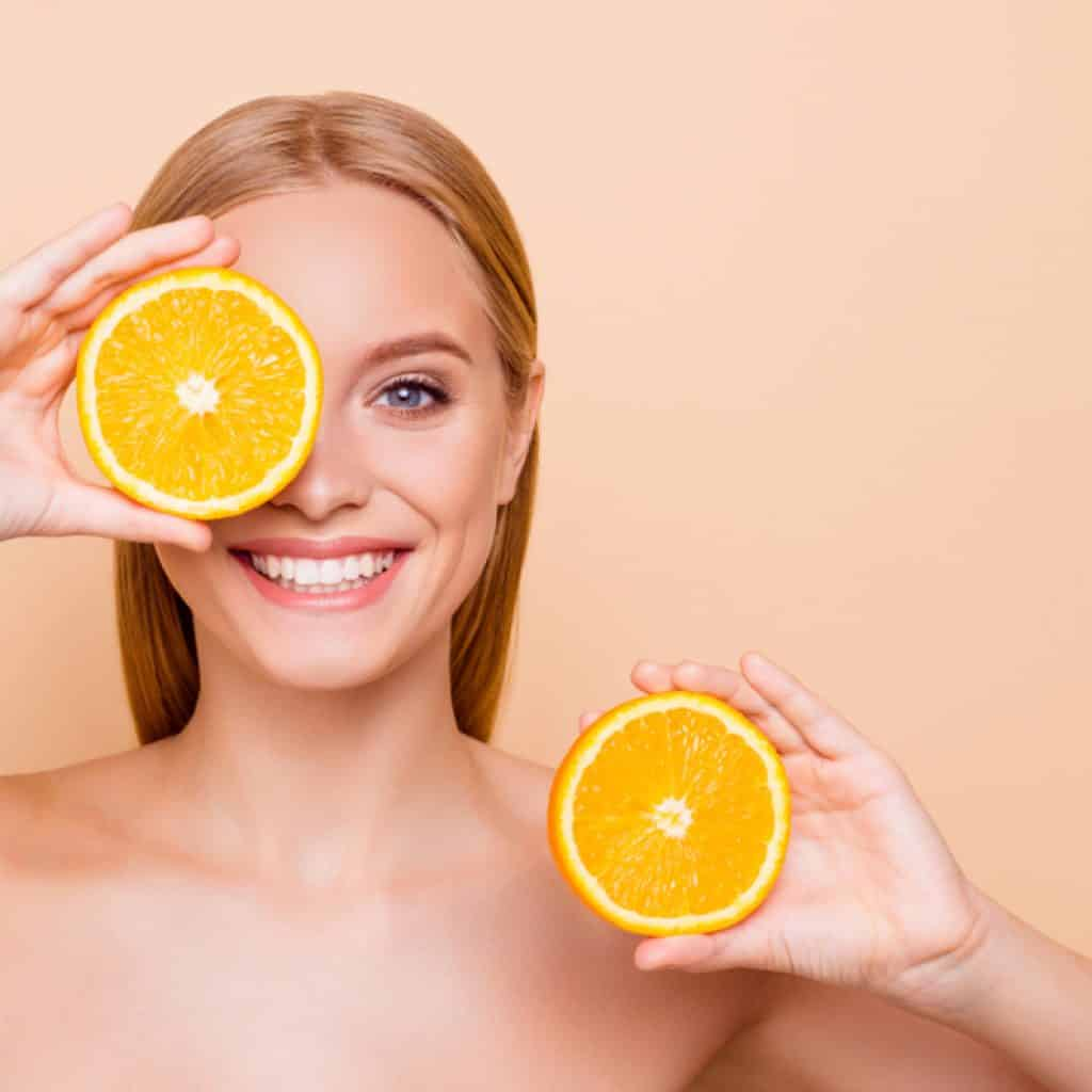 Vitamin C helps rejuvenate facial skin