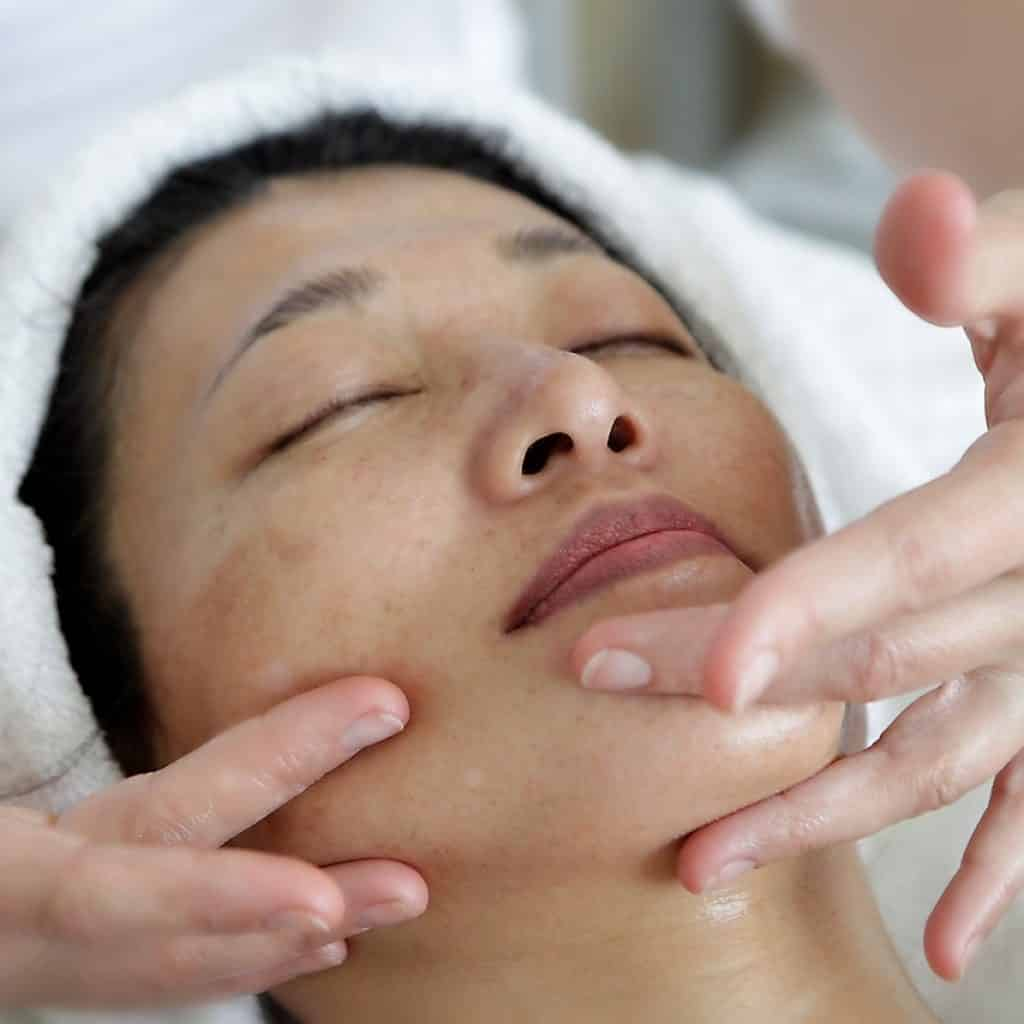 facial massage during an anti-aging facials
